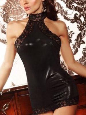 See Love Fantezi Lame Dantelli Gece Elbisesi İç Giyim