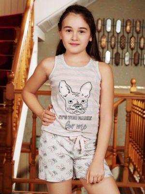 Kız Çocuk Kolsuz T-Shirt Şort Takım